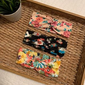 Accessories - NEW ✨ THREE Floral Patterned Headbands -  Set 2